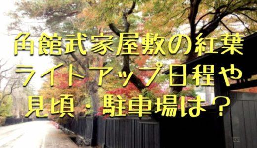 角館武家屋敷2019紅葉がライトアップ!日程・見頃・駐車場は?