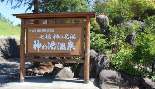 【レビュー】甲府の夜景を独占する「神の湯温泉」と山梨観光