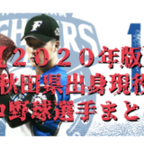 【2020年】注目の秋田県出身現役プロ野球選手一覧!最新版!