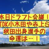 【2020ドラフト会議】小木田、赤上ら秋田出身選手の命運は!
